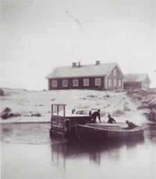 Vinterbild tagen under tidigt 1900-tal